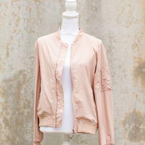 Zara Dusty Pink Lightweight Bomber Jacket